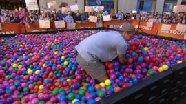 TODAY fan has 30 seconds to find gold ball worth $25,000 in giant ball pit