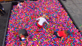 Watch 4 TODAY fans plunge though ball pit for $25,000 prize!