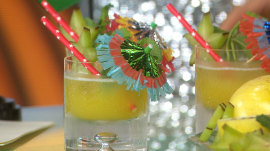Try Brazilian-themed passionfruit cocktails and hearty appetizers
