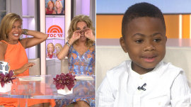 Boy who received double hand transplant brings KLG, Hoda, Dolly Parton to tears