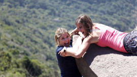 See Natalie Morales and Jenna Bush Hager hang from a cliff in Rio, for real!