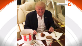 Internet to Donald Trump: You're supposed to eat KFC with your fingers!