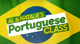 Learn to say 'hole in one' in Portuguese with Al and Natalie