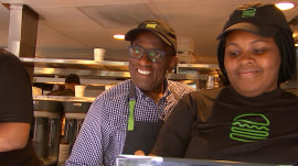Al Roker visits Shake Shack to sell his new Roker Burger in person