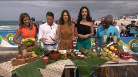 Adriana Lima, Alessandra Ambrosio dish up Brazilian fish stew, coconut cake