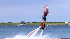Flyboarding: Watch Billy Bush soar with jet-propelled boots