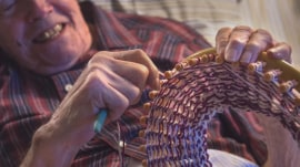 91-year-old man in hospice care knits hats for the homeless
