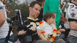 Steve Gleason shares battle with ALS in inspiring film