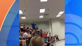 Student sinks epic basket so that the whole class aces their chemistry quiz