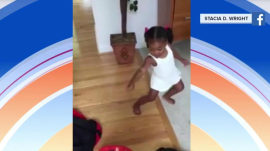 Watch this little girl dance to her mom's adorable potty-training song