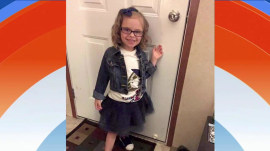 Back-to-school before-and-after: Girl, 5, goes from dapper to disheveled