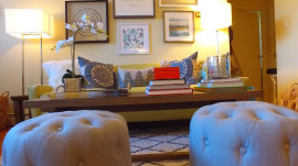 See how our expert remodeled a couple's family room in 5 hours
