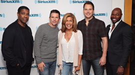 Magnificent! Hoda runs into Chris Pratt, Denzel Washington at Sirius XM