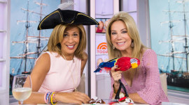 It's Talk Like a Pirate Day: KLG and Hoda arrr ready for doughnuts!