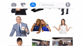 Class up your text messages with KLG and Hoda stickers