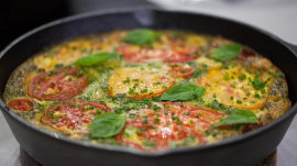 Try Al's easy veggie frittata recipe (with bacon!)