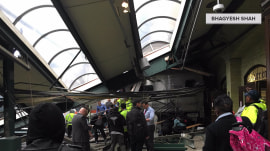 New Jersey train crash passenger describes chaos, woman pinned under roof