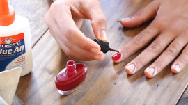 How Elmer's glue is the secret to a perfect manicure