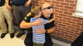 These police surprised the children of a fallen officer for first day of school