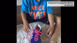 Watch the magic technique to teach kids to tie their shoes!