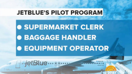 JetBlue is turning supermarket clerks and baggage handlers into pilots