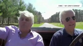 'I like speed': Joe Biden gets behind the wheel of his '67 Corvette with Jay Leno