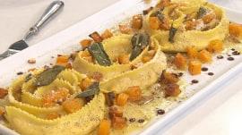 Make delicious butternut squash rollatini raviolo and artichoke salad recipes