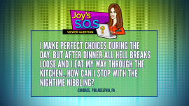 Joy Bauer's SOS: How to avoid snacking after dinner