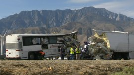 Palm Springs crash: At least 13 killed after bus slams into back of tractor-trailer