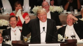 Donald Trump slammed over election result comment and 'mean' Al Smith dinner jokes