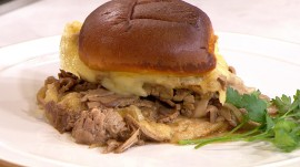 Adam Richman puts a twist on the classic French dip, flirts with Tamron