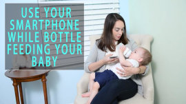New moms can now feed their babies and check their phones at the same time