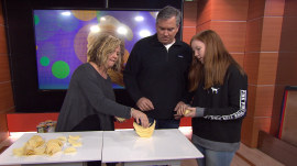Watch: Engineer and family successfully complete a 'Pringles ringle' on the spot!