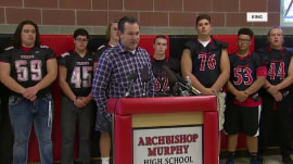 Rivals refusing to play Wash. high school football team with NFL-sized teens