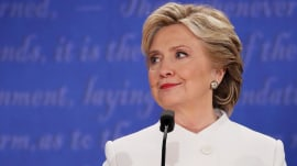 What is Hillary Clinton's biggest fear after final debate with Donald Trump?