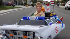 Dad turns son's wheelchair into 'Ghostbusters' Ecto-1 car