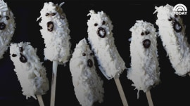 Make these banana ghost pops — for silly Halloween fun!