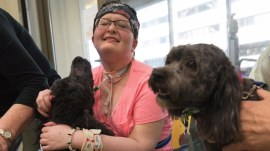 Teen in hospital for a year gets visit from beloved dog