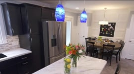 Watch this couple react to kitchen makeover of their dreams