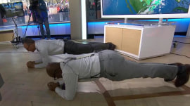 Lester Holt impresses everyone at TODAY with 3-minute plank