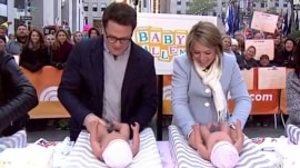 Who can change a diaper faster: Dylan Dreyer or her hubby?