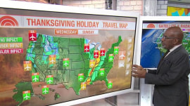Learn where weather may affect your Thanksgiving travel by car or plane