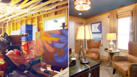 Junk room to man cave: See this dad's extraordinary den makeover