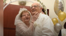 First-time bride, 80, weds her 95-year-old Mr. Right in nursing home