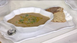 Make this delicious borlotti bean soup to warm you up this winter