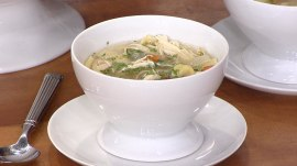 Learn to make delicious chicken and dumplings from award winner Michel Nischan