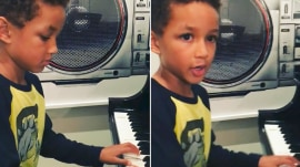 Alicia Keys' 6-year-old son Egypt performs his original song, and it's awesome