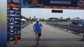 75-year-old man with cancer completes 100th marathon