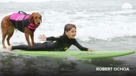 Surf therapy dog helps veterans, people with disabilities