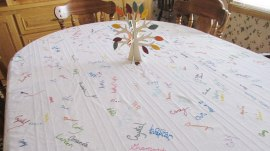 Family's Thanksgiving tablecloth tradition has special meaning